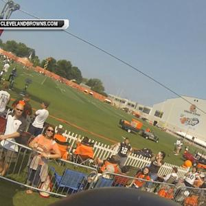 NFL Fan Pass: Zipline riding at Browns training camp