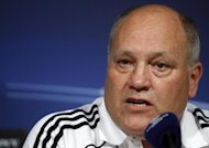 File photo of Martin Jol during a news conference at Santiago Bernabeu stadium in Madrid