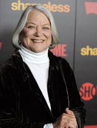FILE - In this Jan. 5, 2012 file photo, Louise Fletcher, a cast member in &quot;Shameless,&quot; poses at the premiere of the second season of the Showtime television series, in Los Angeles. Fletcher says she&#39;s no longer able to watch the movie One Flew Over the Cuckoo&#39;s Nest because the character she won an Oscar for, Nurse Ratched, is so cruel. Fletcher will be in Salem, Ore., on Saturday for the opening of a museum of mental health at the rebuilt Oregon State Hospital, where the 1975 movie was filmed in 1975. (AP Photo/Chris Pizzello, File)