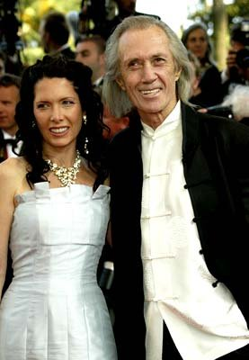 David Carradine and ladyfriend Cannes Film Festival 5/19/2003