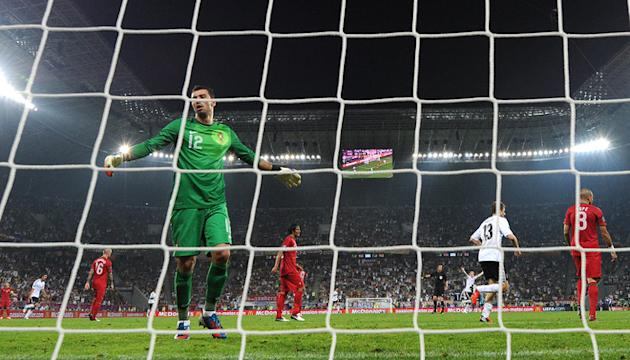 Portugal's Goalkeeper Rui Patricio Reacts AFP/Getty Images