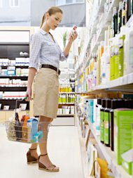 woman in drugstore
