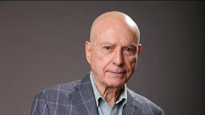 "In this Monday, March 11, 2013 photo, Alan Arkin poses for a portrait for the film ""The Incredible Burt Wonderstone"" at the Hotel Amarano in Los Angeles. Arkin is Steve Carell's idol, in reality and in their new movie. The 78-year-old Oscar winner plays the master magician who helps Carell's character find his life's calling in ""The Incredible Burt Wonderstone."" (Photo by Eric Charbonneau/Invision/AP)"