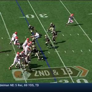 Johnny Manziel's first pass attempt in the NFL