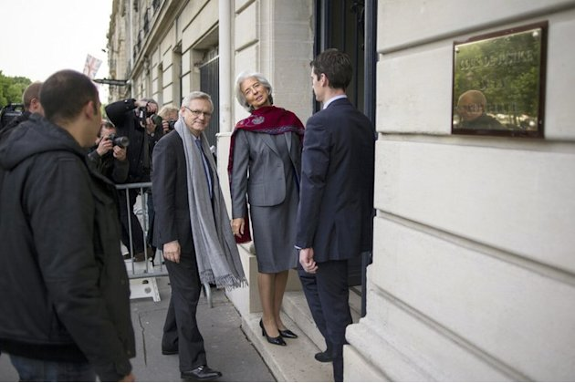 Head of the IMF, Christine Lagarde, arrives at the Court of Justice of the Republic, May 24, 2013