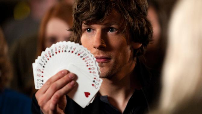 """This film image released by Summit Entertainment shows Jesse Eisenberg in a scene from """"Now You See Me."""" (AP Photo/ Summit Entertainment, Barry Wetcher)"""