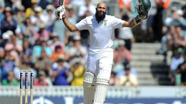 Hashim Amla led the way for South Africa with a century on the first day