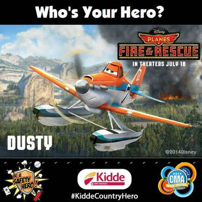 Disney Planes: Fire & Rescue, Country Music and Fire Safety Combine to Celebrate Everyday Heroes at the 2014 CMA Music Festival