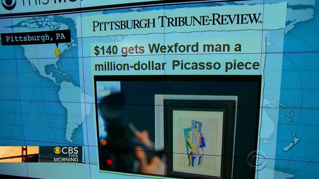 Headlines at 8:30: Pa. man wins Picasso from online raffle.