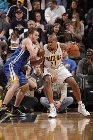 Pacers beat Warriors after 4th-quarter scuffle