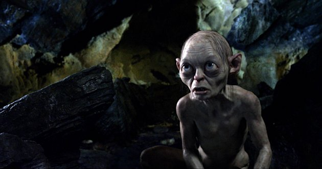 The character Gollum voiced by Andy Serkis in a scene from The Hobbit: An Unexpected Journey (AP/Warner Bros)
