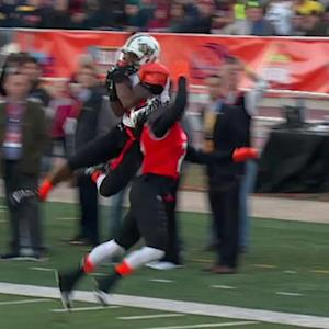 Reese's Senior Bowl: University of Central Florida wide receiver Rannell Hall hauls in deep ball