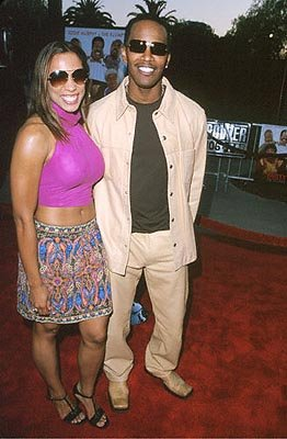 Jamie Foxx with Lovely Galpal at the Universal City premiere of Universal's Nutty Professor II: The Klumps