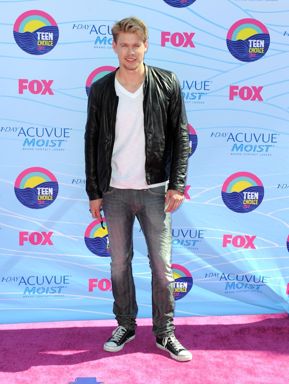Chord Overstreet arrives at the Teen Choice Awards on Sunday, July 22, 2012, in Universal City, Calif. (Photo by Jordan Strauss/Invision/AP)