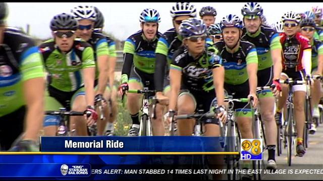 Cyclist ride in memory of one of their own