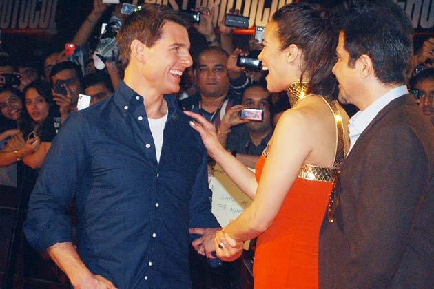 Bollywood parties with Tom Cruise