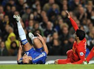John Terry was injured in a collision with Luis Suarez