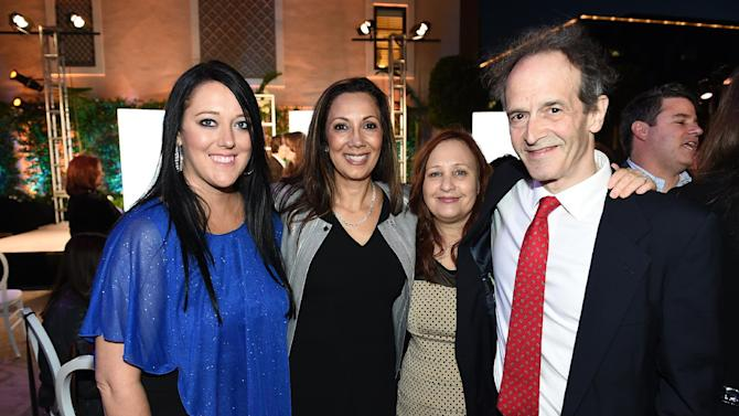 Katrina Gilbert, from left, Lucia Gervino, Television Academy Honors Chair, Shari Cookson and Nick Doob attend the 8th annual Television Academy Honors  at the Montage hotel on Wednesday, May 27, 2015, in Beverly Hills, Calif. (Photo by Jordan Strauss/Invision for the Television Academy/AP Images)