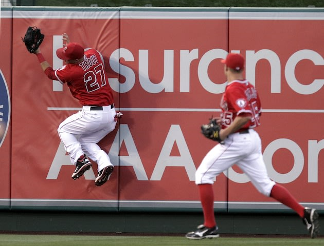 Mike Trout's great catch adds to rookie's growing highlight reel.