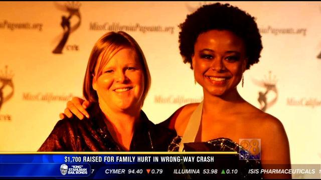 $1,700 raised for family hurt in wrong-way crash