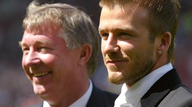 Manchester United manager Alex Ferguson and David Beckham (Reuters)
