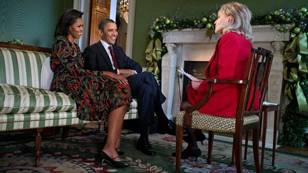 abc barbara Walters michelle barack obama thg 111215 wmain The President and First Lady Sit Down with ABC News Anchor Barbara Walters for First Joint Interview Since Re Election
