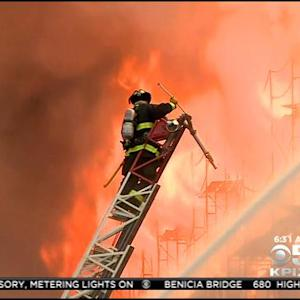 Team Coverage: Mission Bay Fire Smolders Overnight
