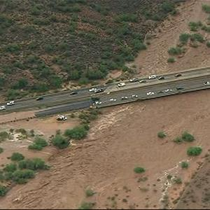 Heavy Rains Flood Arizona Roads