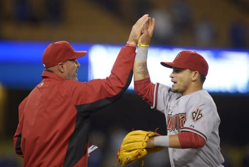 Goldschmidt, Cahill lead D-backs over Dodgers 9-2