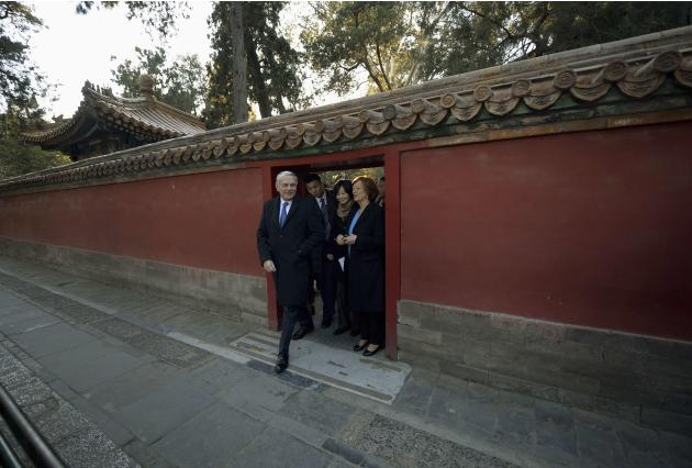 French Prime Minister Jean-Marc Ayrault tours the historic Forbidden City at the start of his visit to Beijing