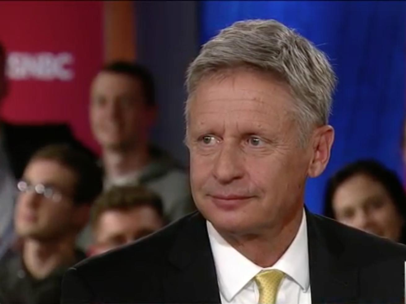 Gary Johnson says he had an 'Aleppo moment' when he struggled to name a foreign leader he liked
