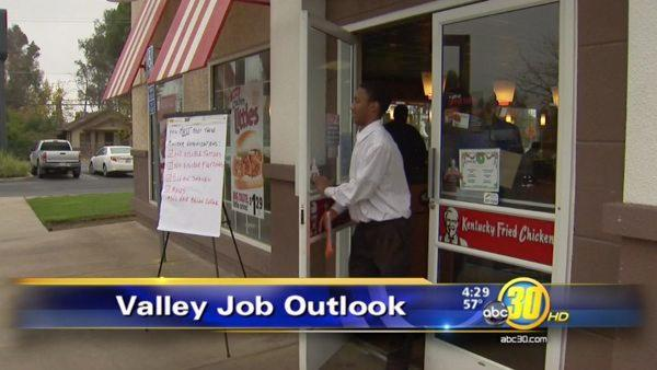 Fast food jobs in a slow economy