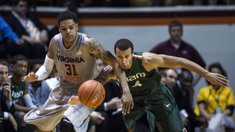 NCAA Basketball: Miami at Virginia Tech