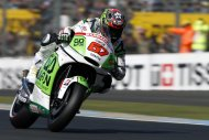 Honda Gresini MotoGP rider Bryan Staring of Australia takes part in the third free practice session of the French Grand Prix in Le Mans circuit, central France May 18, 2013. REUTERS/Benoit Tessier (FRANCE - Tags: SPORT MOTORSPORT)