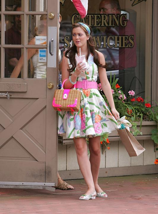 NOW: The Kate Spade bag is a must for Gossip Girls like Blair Waldorf.
