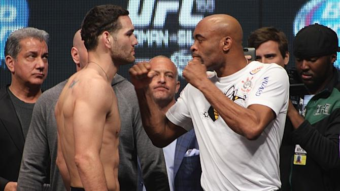 UFC 168 Official Weigh-in Results: Silva Had His Time, Weidman Says Now It's His Turn