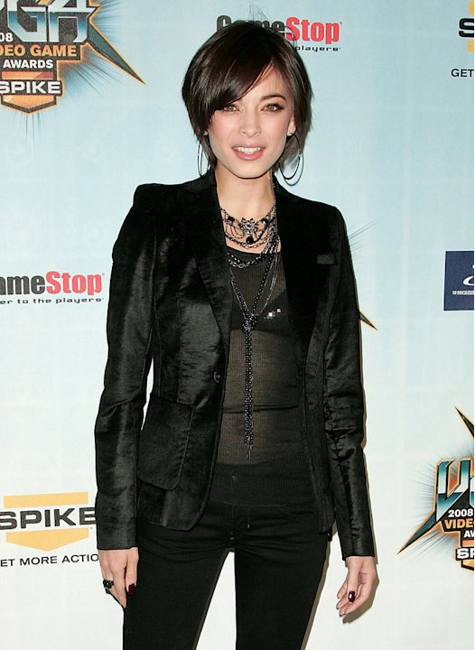 Kristin Kreuk attends Spike TV's 2008 Video Game Awards at Sony Picture Studios on December 14, 2008 in Culver City, California.