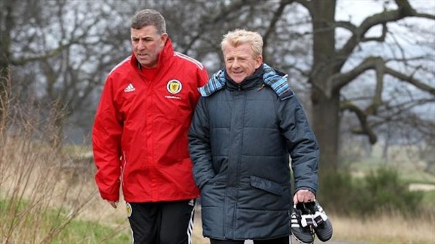 Mark McGhee, left, believes Scotland would be happy with a draw against Croatia