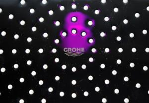 A shower head of Grohe is displayed at the company showroom in Duesseldorf