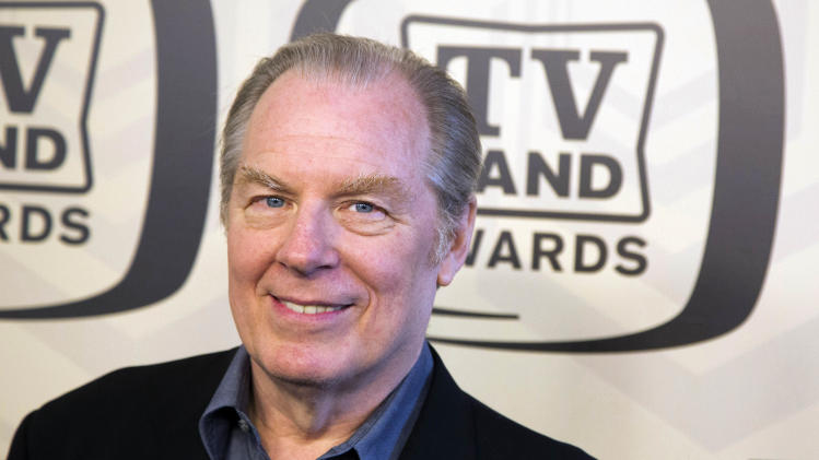 "In this April 14, 2012 photo, Michael McKean arrives to the TV Land Awards 10th Anniversary in New York. McKean, who portrayed ""Spinal Tap's"" lead singer David St. Hubbins in the movie ""Spinal Tap,"" and Lenny on the hit television show, ""Laverne & Shirley,"" was injured when he was struck by a car in New York City on Tuesday, May 22, 2012. A spokesperson for McKean said that his leg was broken in the accident. (AP Photo/Charles Sykes)"