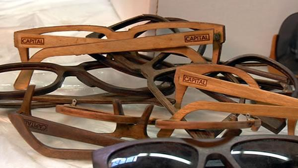 Made in America: Handmade wooden sunglasses