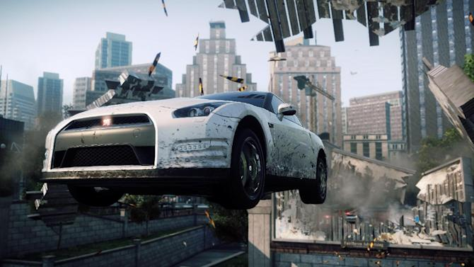"This video game image released by Electronic Arts shows a scene from ""Need for Speed: Most Wanted."" (AP Photo/Electronic Arts)"