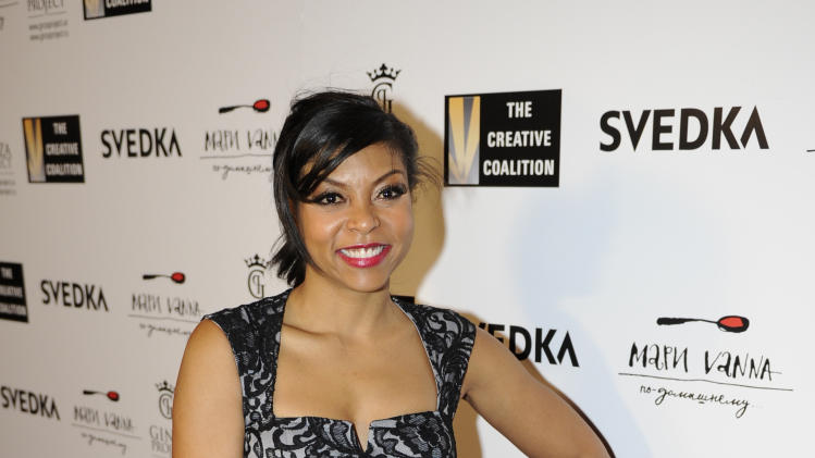 Actress Taraji P. Henson arrives at the Creative Coalition Night Before Dinner on Sunday Jan. 20, 2013, in Washington. (Photo by Nick Wass/Invision/AP)