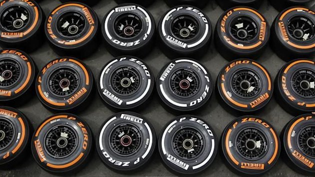 Pirelli tyres in the paddock (Reuters)