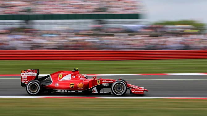 CAR: Ferrari's Kimi Raikkonen in action during morning practice