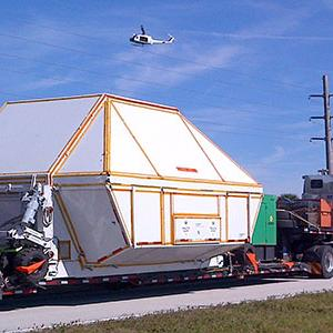 Raw: NASA's Orion Spacecraft Arrives by Truck
