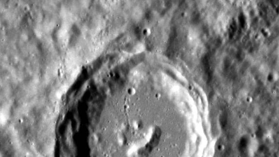 Cosmic Happy Face Stamped into Mercury Crater (Photo)