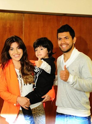 Aguero is married to football legend Maradona's youngest daughter, Giannina.