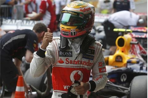 Hamilton on pole in Brazil