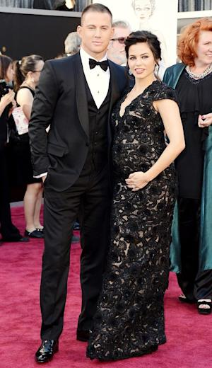 Channing Tatum's Pregnant Wife Jenna Dewan-Tatum Shows Off Bump at Oscars After Baby Announcement